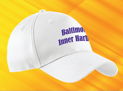Custom Embroidered Baseball Cap for Baltimore, Maryland