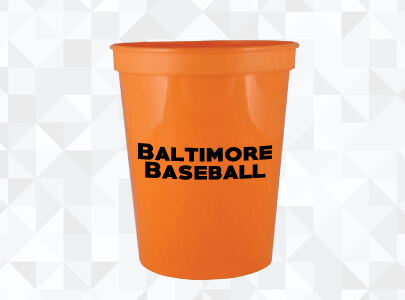 Custom Imprinted Plastic Cup for Baltimore, Maryland